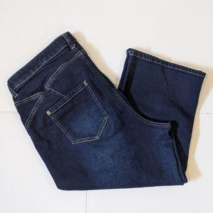 Love & Legend dark blue jeans capris sz 18